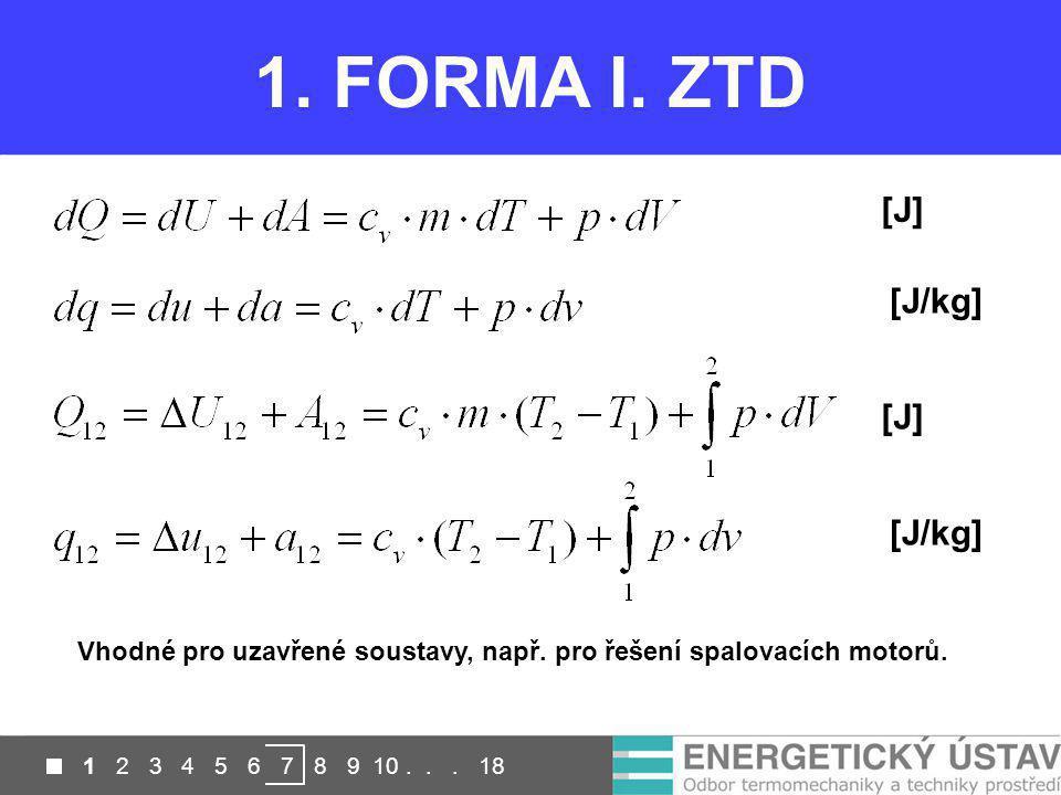 1. FORMA I. ZTD [J] [J/kg] [J] [J/kg]